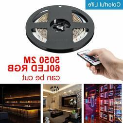 6.5ft USB LED Strip Light Lamp 5050 RGB Color Bar TV PC Back