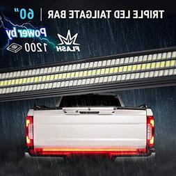 "60"" TRIPLE 1200 LED Tailgate Light Bar Strobe Flashing Brake"