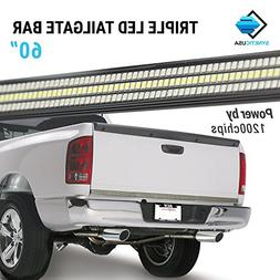 """60"""" TRIPLE 1200 LED Tailgate Light Bar w/Sequential Amber Tu"""