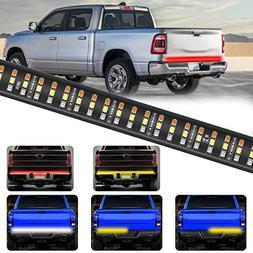 "YITAMOTOR 60"" Triple LED Truck Tailgate Light Bar Strip Ambe"