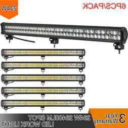 6pcs 234W LED 8D Reflector Light Bar Flood Spot Combo 12V 24
