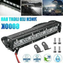 7'' 18W Spot LED Light Work Bar Lamp Driving Fog Offroad SUV