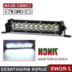 "7"" INCH  LED WORK LIGHT BAR FLOOD OFFROAD ATV FOG TRUCK LAMP"