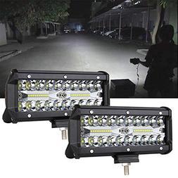 7inch LED Light Bar 2pcs 240W Offroad Driving Lights LED Pod