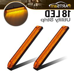 "8"" x 1"" LED Utility Strip Light Amber Functional/Decoration"