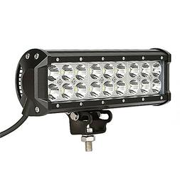 """Auxbeam 9"""" 54W LED Light Bar Cree Spot Beam 5400lm for Offro"""
