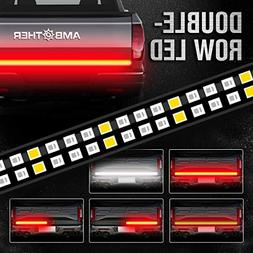 "AMBOTHER 60"" Truck Tailgate Light Bar Double Row LED Flexibl"