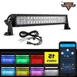 Auxbeam 22 Inch RGB LED Light Bar Multi-color light bar 5D V
