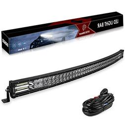Curved LED Light Bar YITAMOTOR 384W 50 Inch 5D Spot Flood Co