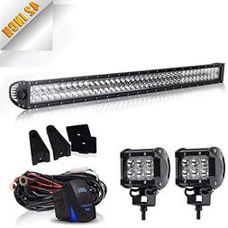 DOT Approved 40-42In 240W Spot Flood Combo Led Light Bar On