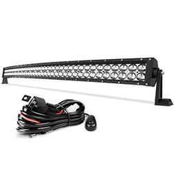 LED Light Bar AUTO 4D 42 Inch Curved Led Work Light 350W wit