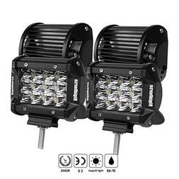 LED Light Bar, Rigidhorse 3 Row 4PCS 4 Inch 50W Light pods S
