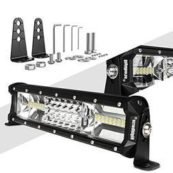 LED Light Bar Rigidhorse Triple Row 12 Inch 108W LED Work Li