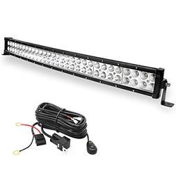 LED Light Bar YITAMOTOR 32 inch Curved Light Bar Offroad Lig