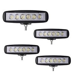 LED Light bar YITAMOTOR 4Pcs 6Inch 18W Spot Led Work Light B