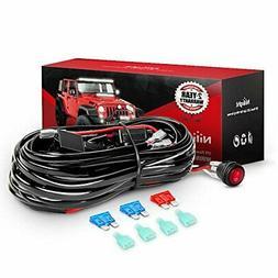Nilight NI-WA 07 LED Light Bar Wiring Harness Kit 12V On/Off