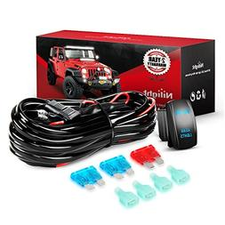 Nilight NI -WA 07 LED Light Bar Wiring Harness Kit REAR LIGH