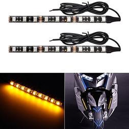 Partsam LED Strip Light Bar 2pcs 9-5050-SMD Flexible Waterpr