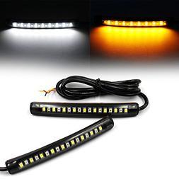 Purishion 2x Universal Flexible LED Turn Signal Tail Brake L