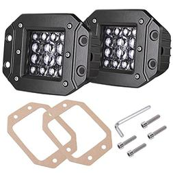 Quad Row LED Pods, AKD Part 2pcs 84W LED Flush Mount 5 inch