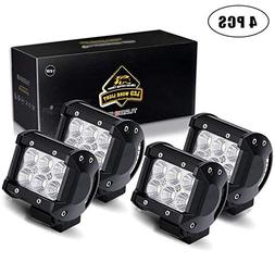 TURBO SII 4pcs 4 Inch Pods Cube flood Beam 18W led Work Ligh
