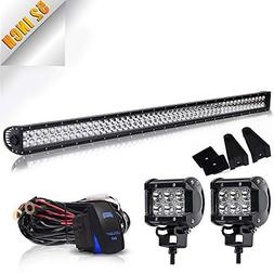 TURBO SII DOT 52Inch Led Light Bar Spot Flood Combo Offroad