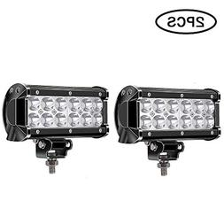 TURBOSII Led Light Bar Super Bright 36w 7Inch Spot Led Off R