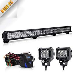 "TURBOSII 39"" Led Light Bar Led Work Light 252W Spot Flood Co"