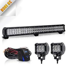 "TURBOSII DOT 28-30""Inch Led Light Bar 180W 18000LM Flood Spo"