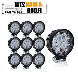 TURBOSII DOT Approved 10PCS 4 Inch Led Work Light Bar 27w Dr