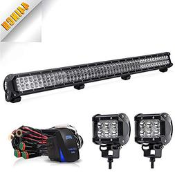 TURBOSII LED Light Bar 44 Inch 288W Spot Flood Combo LED Dri