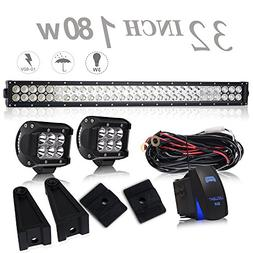 UNI FILTER DOT 32In 180W Bumper Grill Offroad LED Light Bar