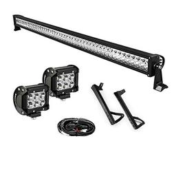 "YITAMOTOR 52"" inch 300W Combo+ 2X 18W Spot LED Light Bar + M"