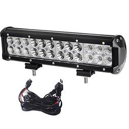 YITAMOTOR Led Light Bar 72W 12inch Spot Flood Combo Led Bar