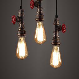 antique pipe light fixture rustic
