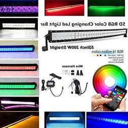IOV LIGHT Bluetooth App Control 52 Inch 300w 5D RGB Led Ligh