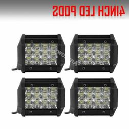 4x 4inch 18W CREE Led Work Light Bar Pods SPOT Cube Offroad