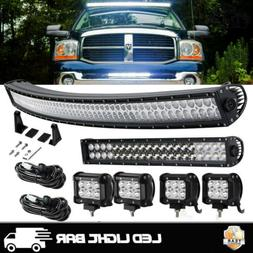 "Curved 50 Inch LED Light Bar+20 Inch+4"" PODS CUBE OFFROAD SU"