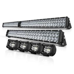 "Curved 50Inch LED Light Bar+22 inch+4"" CREE PODS OFFROAD SUV"