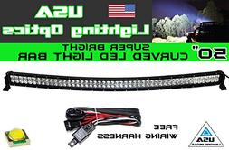 "50"" 288w Curved LED Light bar by USA Light Optics TM spot fl"