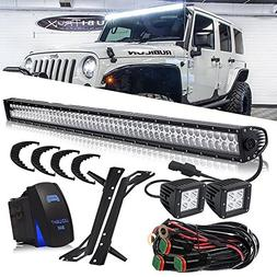 DOT Approved 50 Inch 288W LED Light Bar + 3x3 Inch 16W Pods