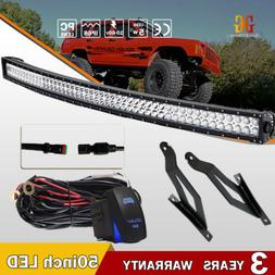 DOT Approved 50in Curved Led Light Bar Spot Flood Combo For