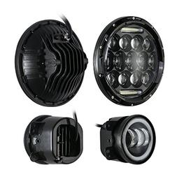 Eyourlife DOT Approved 7'' Jeep Black Daymaker LED Headlight