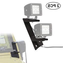Dual A-Pillar Light Brackets - ALAVENTE Dual Lower Windshiel