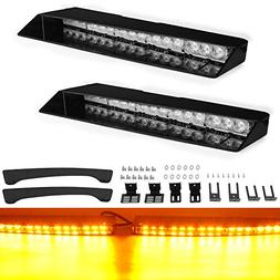 "Emergency Visor Lights, YITAMOTOR 17"" 2 x 15 LED 90W 26 Flas"