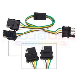 LEDGlow Flat 4 Pin Y-Splitter Adapter Trailer Harness for LE