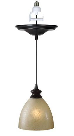 Worth Home Products Instant Screw In Pendant Light with Line