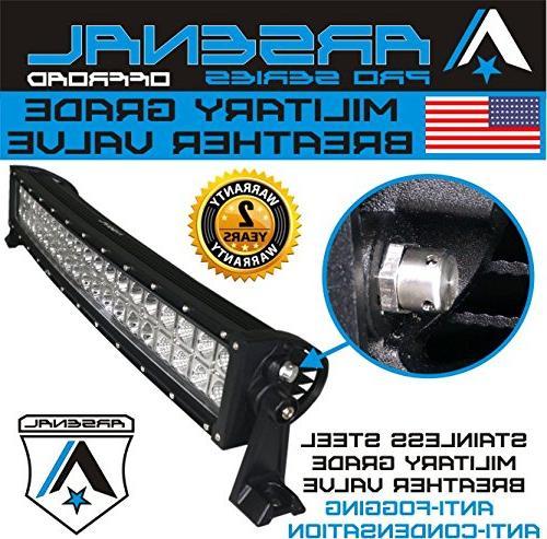 #1 2018 5D inch Curved Pro Optics 240W 5D=400W LED Bar Arsenal Offroad Spot Flood combo beam for Offroad JEEP Trucks UTV SUV Polaris Razor