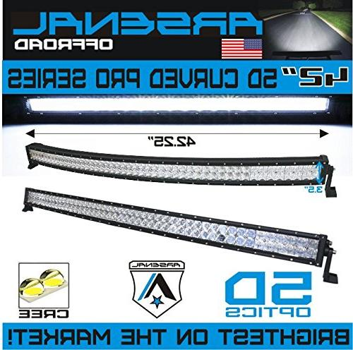 #1 2018 inch 240W 40,000LM CREE LED by Arsenal Spot for Offroad JEEP Trucks SUV Polaris Razor