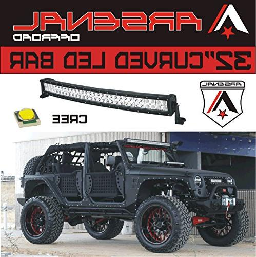 "#1 32"" Offroad 30"" of LED's Combo 180w Road Polaris Raptor Bumper"